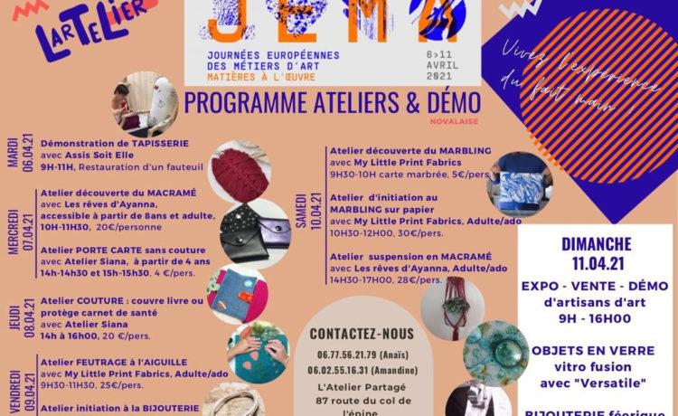 Les Journées Européennes des Métiers d'Art –6 avril 2021